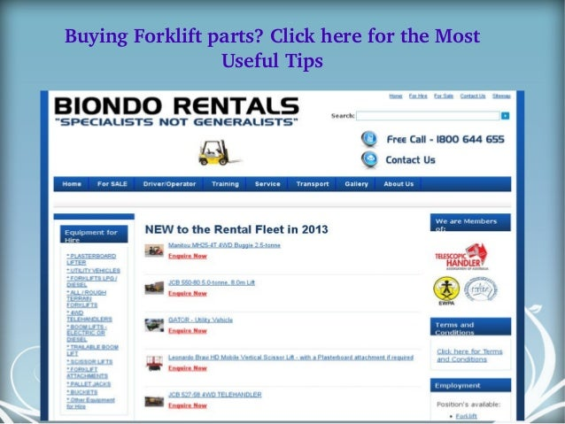 Buying forklift parts click here for the most useful tips
