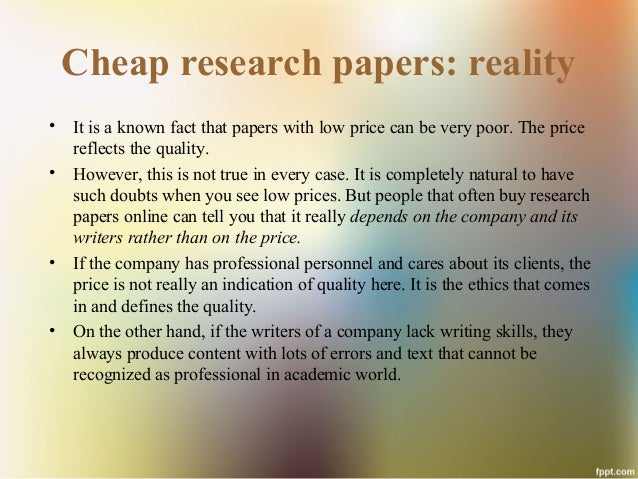 Buying research papers