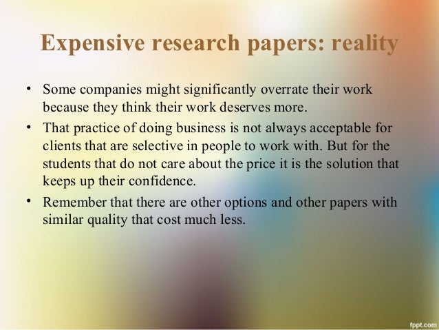 Buying a research paper
