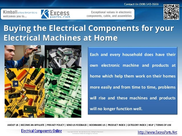 Buying the Electrical Components for yourElectrical Machines at Home                                                      ...
