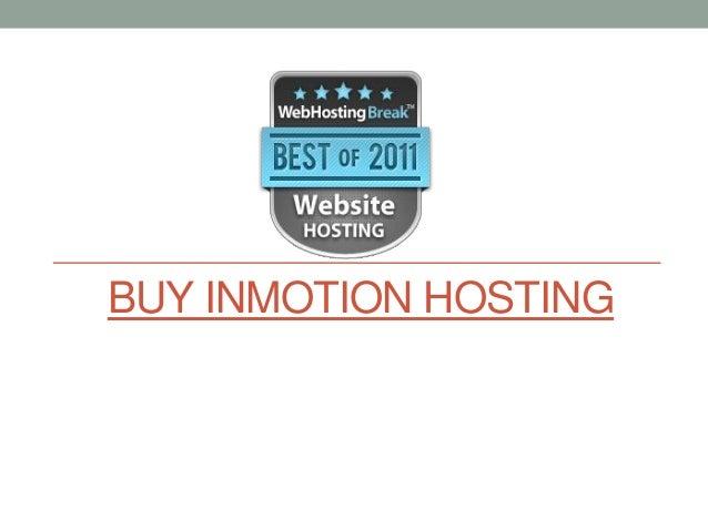 Buy inmotion hosting