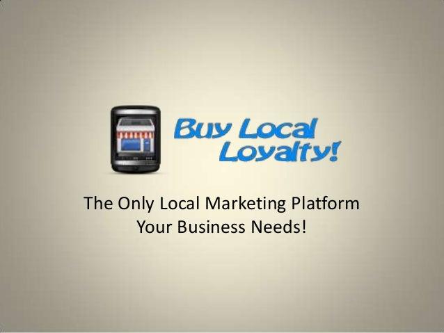 Loyalty Programs Concept - BuyLocalLoyalty.com