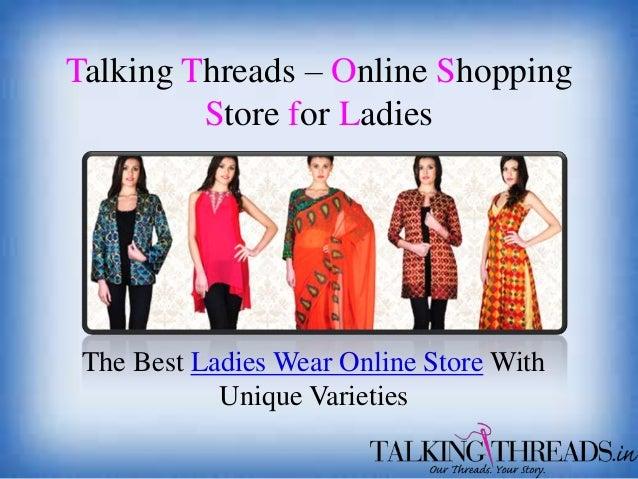 Buy online designer sarees and salwar kameez on talkingthreads