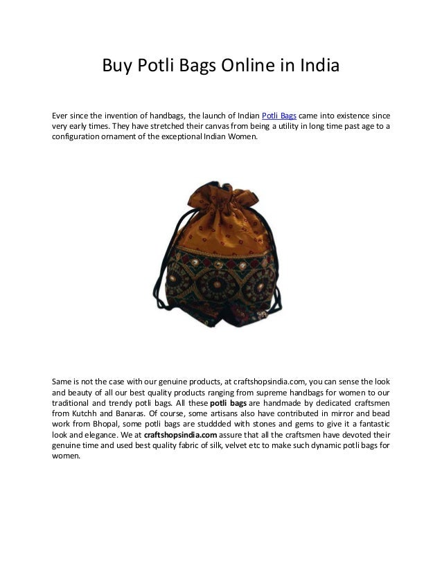 Buy Potli Bags Online in India