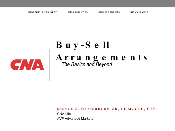 Buy-Sell Arrangements The Basics and Beyond