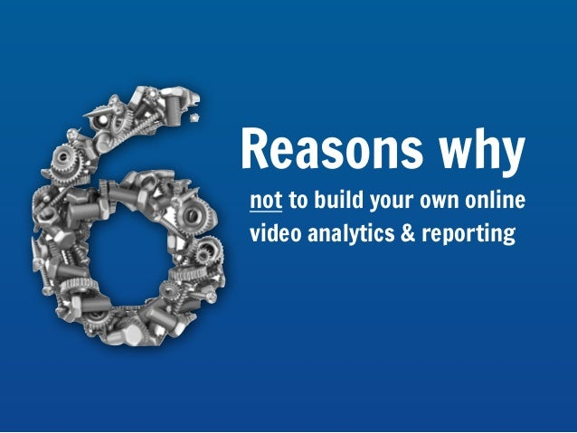 6 reasons not to build your own analytics & reporting solution