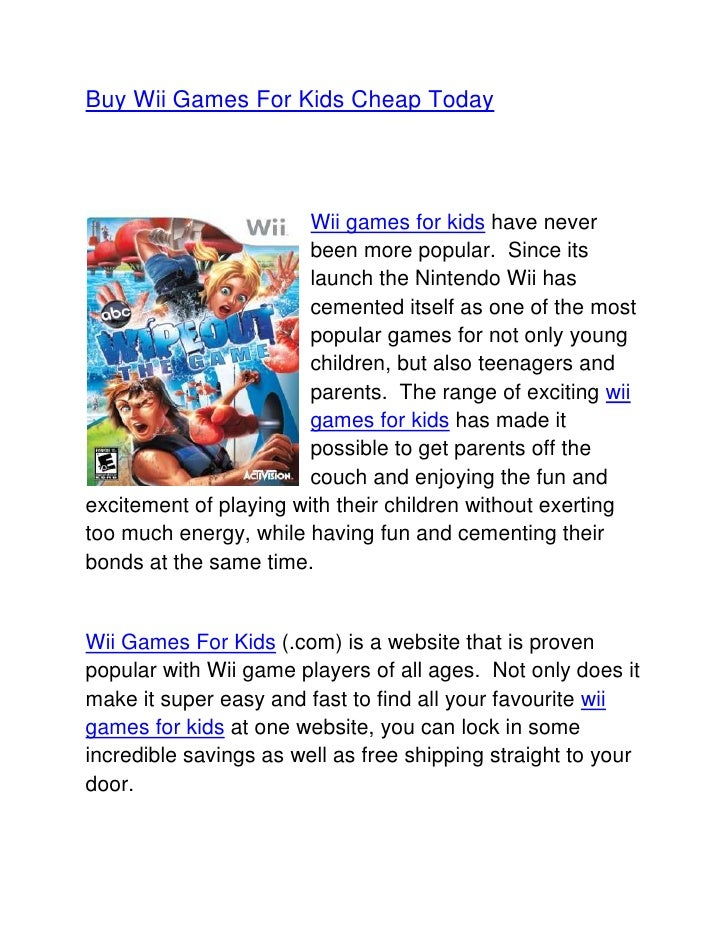 Buy wii games for kids cheap today