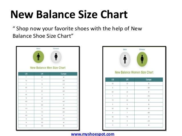 new balance unisex sizing