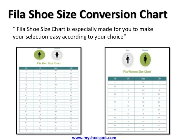 Adidas Shoe Size Conversion Chart Fila Shoe Size Conversion