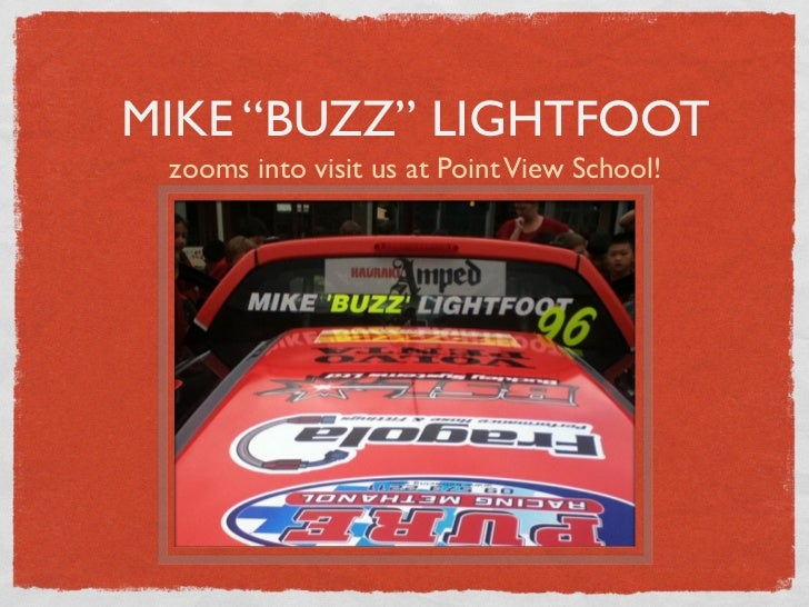 """MIKE """"BUZZ"""" LIGHTFOOT zooms into visit us at Point View School!"""