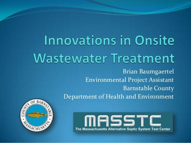 Innovations in Onsite Wastewater Treatment