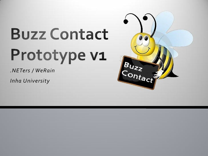 Buzz Contact Prototype V1