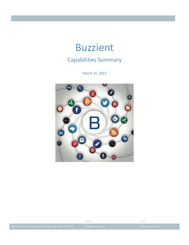 Buzzient capabilities overview march 31 2014