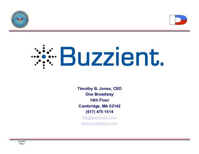 Buzzient Presentation at DeVenci Conference 2009