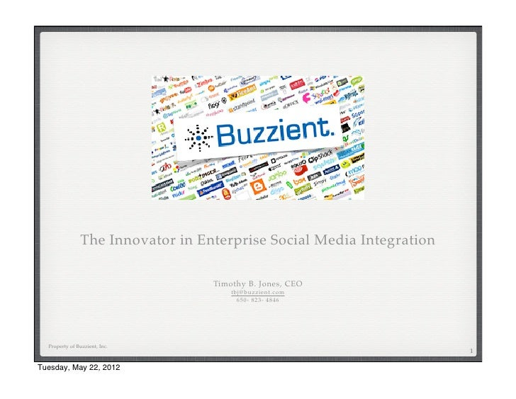 Buzzient may 22 2012 Overview