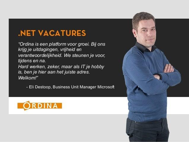 Buzz Ordina - dotnet JOBS Microsoft - Meet Eli