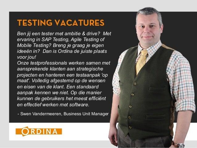 Buzz Ordina Testing Vacatures - Meet Swen