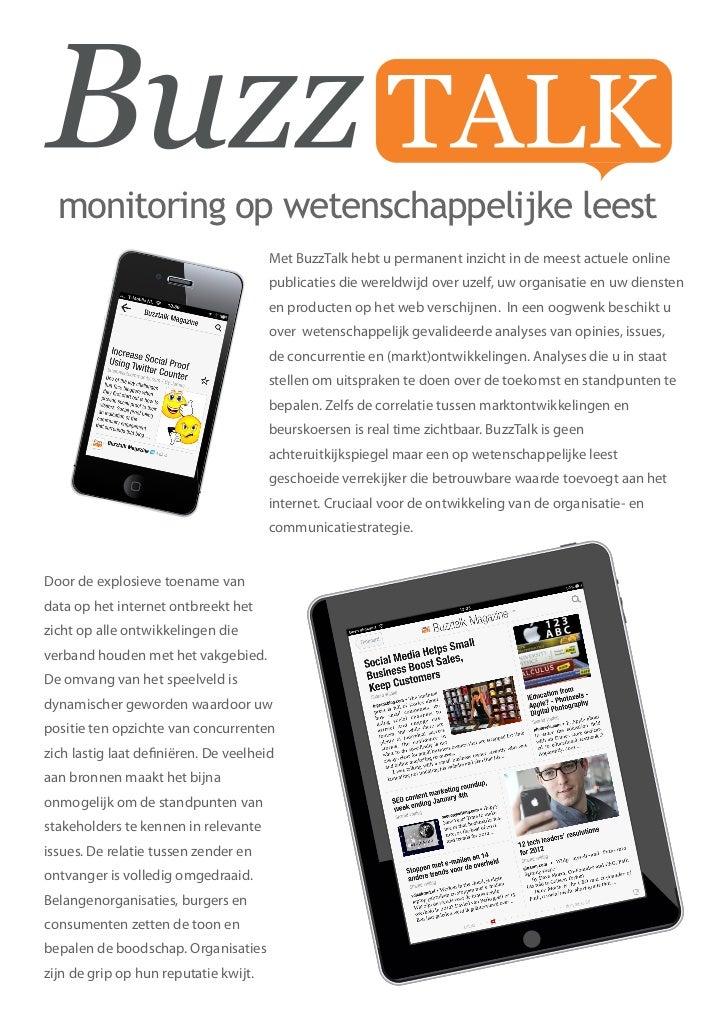 Buzztalk folder NEDERLANDS