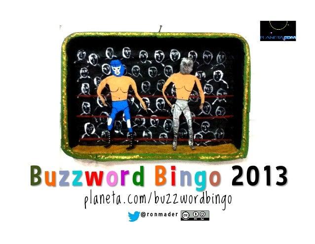 Buzzword Bingo 2013