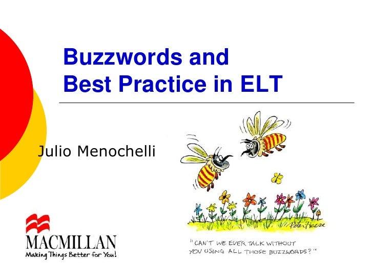 Buzz words and best practice sbs