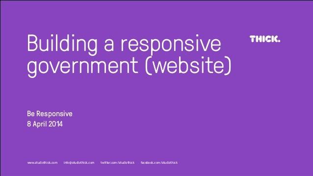 Building a Responsive Government (website)