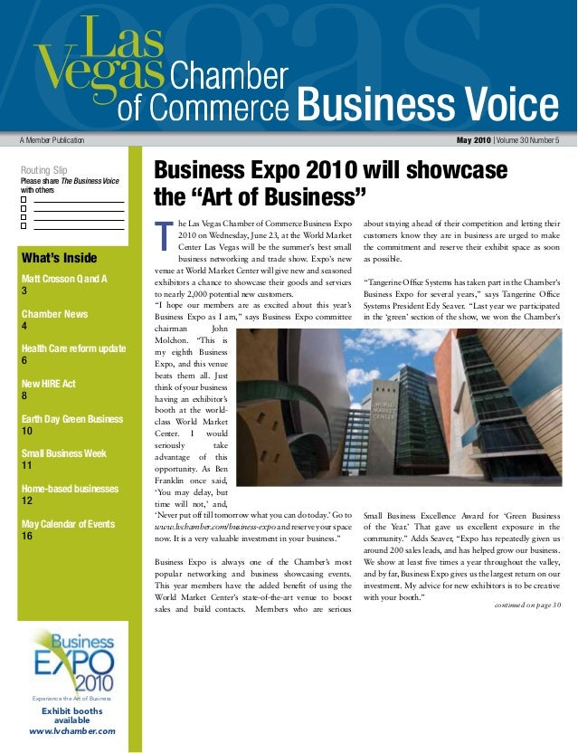 Business Voice Routing Slip Please share The Business Voice with others A Member Publication May 2010 | Volume 30 Number 5...