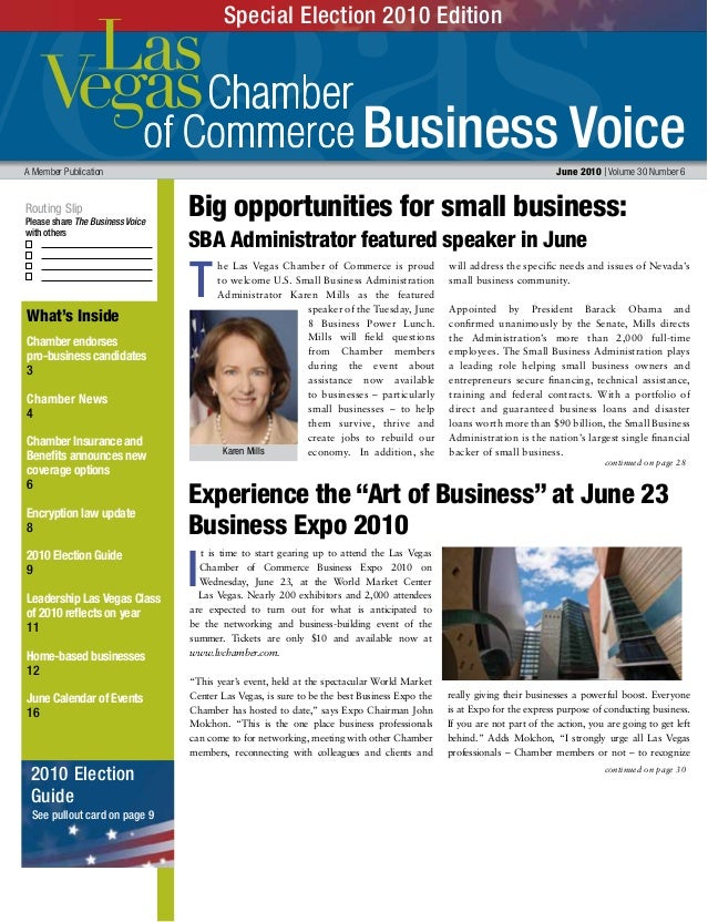 Business Voice Routing Slip Please share The Business Voice with others A Member Publication 	 June 2010 | Volume 30 Numbe...