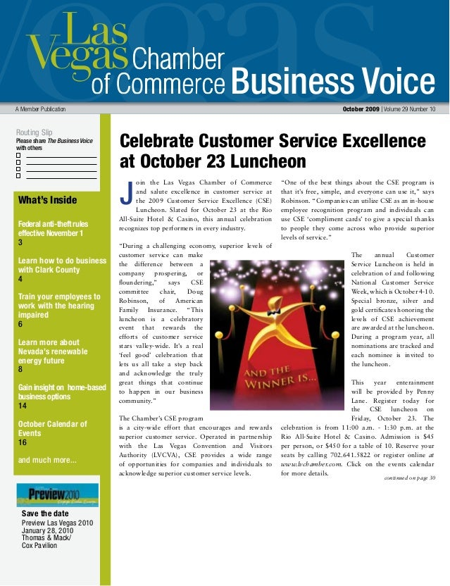 Business Voice Routing Slip Please share The Business Voice with others A Member Publication October 2009 | Volume 29 Numb...