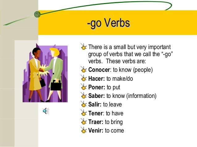 Verbs With G In The Yo Form