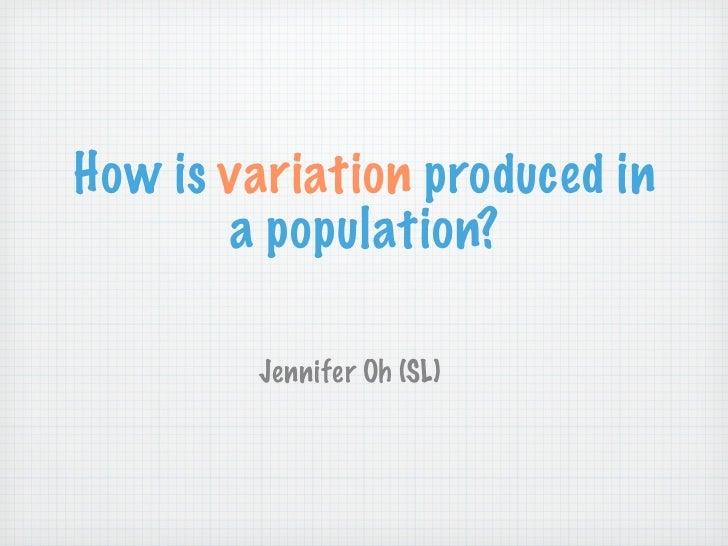 4 Genetics: Sources of Genetic Variation