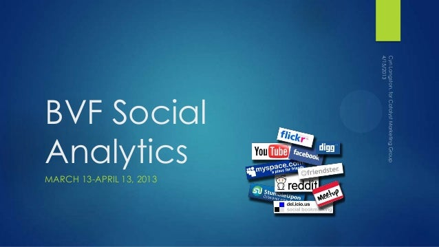 BVF SocialAnalyticsMARCH 13-APRIL 13, 2013