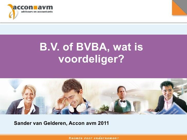 Bv Of Bvba Presentatie Sg