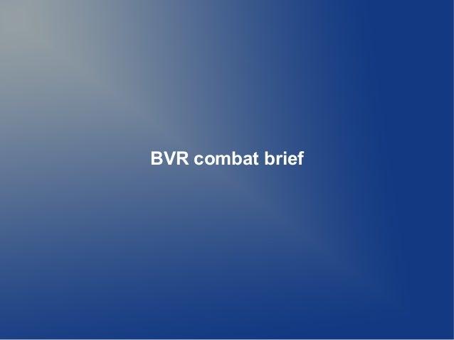 BVR combat brief