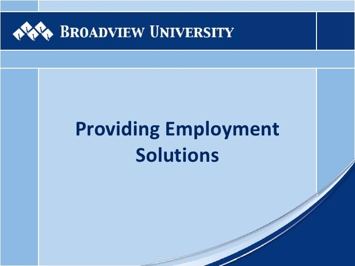 Providing Employment Solutions<br />