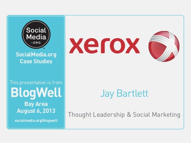 Jay Bartlett Thought Leadership & Social Marketing This video is from BlogWell San Francisco June 20, 2011 socialmedia.org...