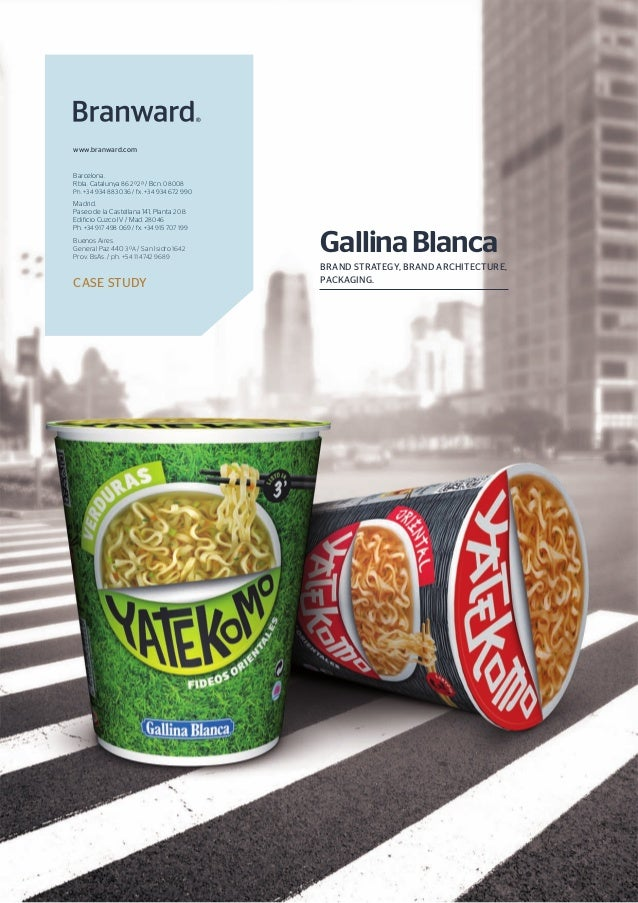 BRAND STRATEGY, BRAND ARCHITECTURE,PACKAGING.GallinaBlancaCASE STUDYwww.branward.comBarcelona.Rbla. Catalunya 86 2º2ª / Bc...