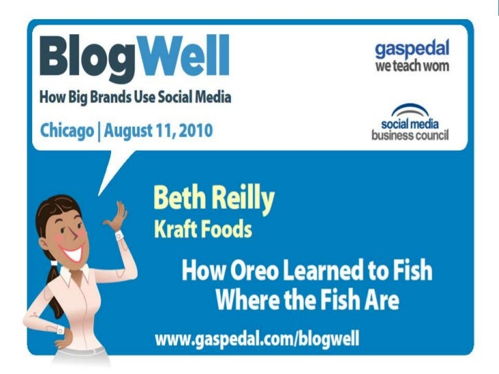 BlogWell Chicago Social Media Case Study: Kraft Foods, presented by Beth Reilly