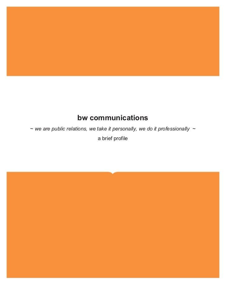 bw comms co profile