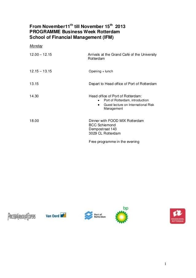 Bw i programme 2013