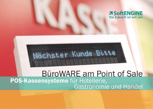 BüroWARE ERP am Point of Sale - POS-Kassensysteme für Hotellerie, Gastronomie und Handel