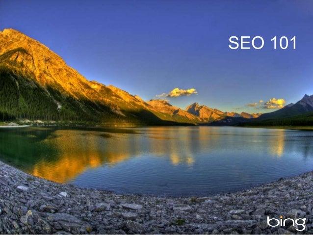 Bing Webmaster Tools SEO 101 Webinar