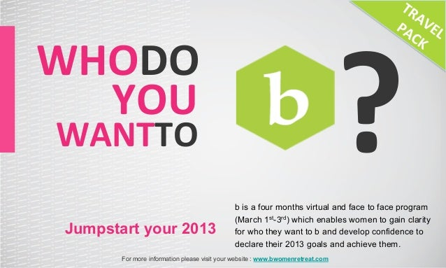 ?WHODO	   	  	  	  	  YOU	    WANTTO	                                                   b is a four months virtual and fac...