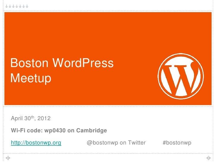 BWPM Apr2012: Intro Slides