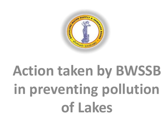 Action taken by BWSSB in preventing pollution of Lakes