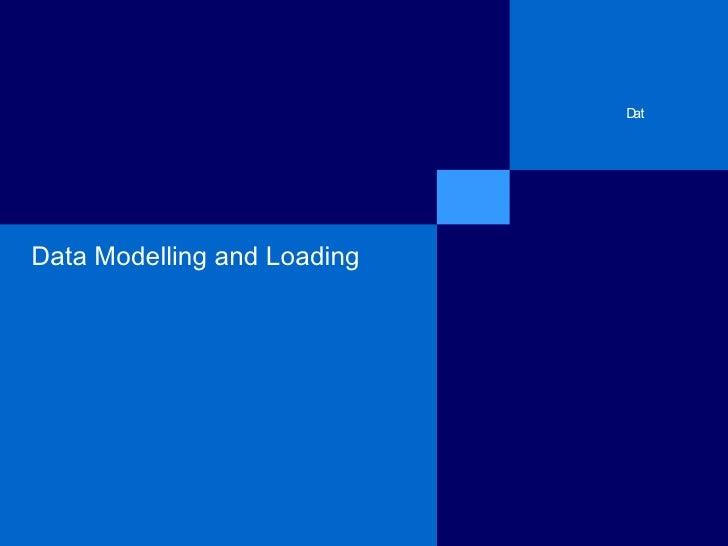 Bw training   3 data modeling