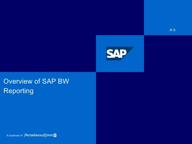 Overview of SAP BW Reporting