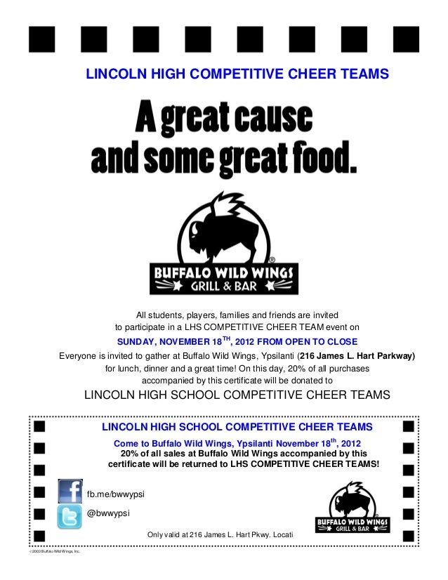 BWW Competitive Cheer Flyer