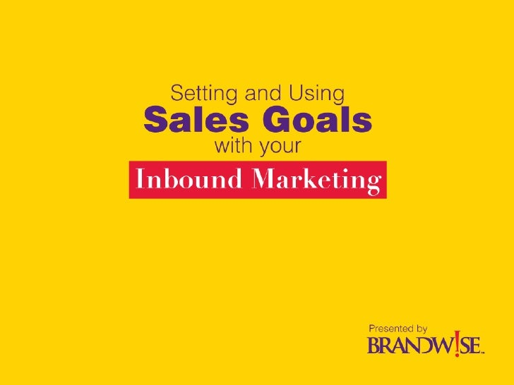 Using and Setting Website Sales Goal