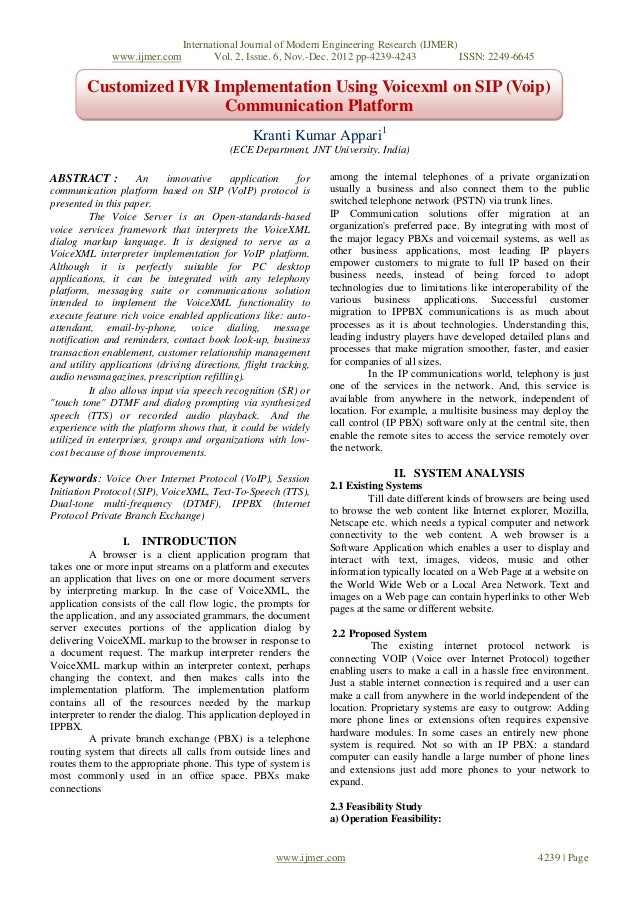 International Journal of Modern Engineering Research (IJMER)              www.ijmer.com           Vol. 2, Issue. 6, Nov.-D...