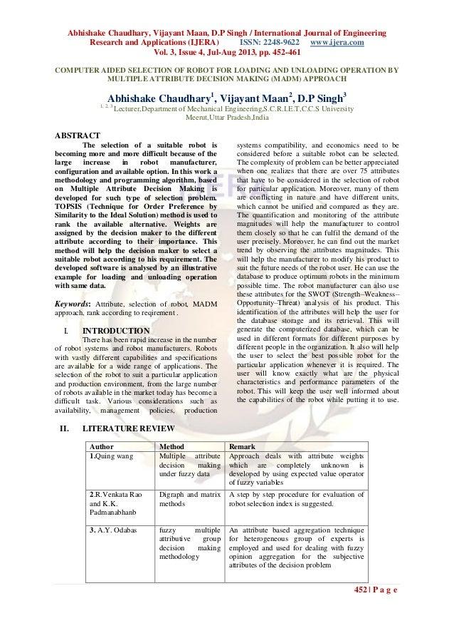 Abhishake Chaudhary, Vijayant Maan, D.P Singh / International Journal of Engineering Research and Applications (IJERA) ISS...